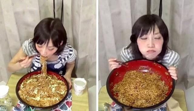 逆天!日本女子3分20秒吃完3.9公斤炒面