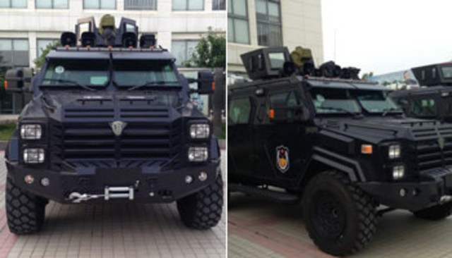 威猛!新型剑齿虎警用装甲车价值160万