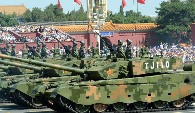 坦克方队通过天安门广场