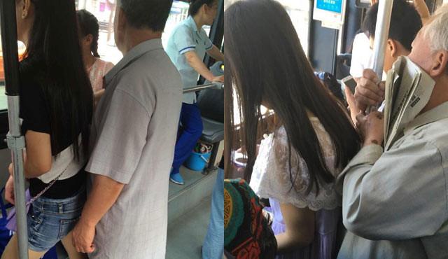 北京663路公交老痴汉猥亵女生 嚣张多年